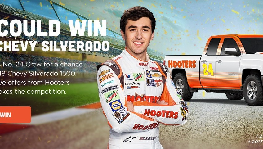 Hooters – Win a 2018 Chevy Silverado