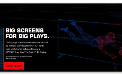 VIZIO 2017 Big Screens for Big Plays Sweepstakes