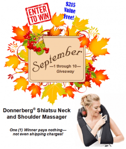 Win a Shiatsu Neck & Shoulder Massager valued at $215