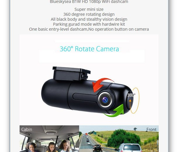 Blueskysea 1080p Wi-Fi Stealthy Dashcam Giveaway