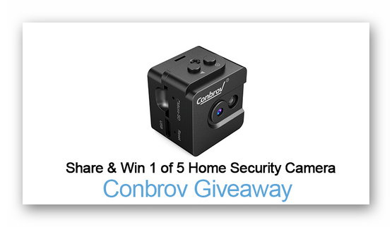 Win 1 of 5 Home Security Camera Giveaway