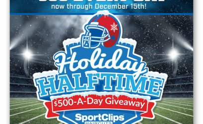 Holiday Halftime $500-A-Day Giveaway