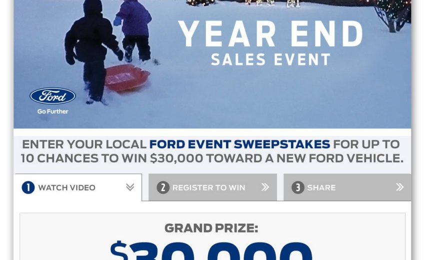Ford Event Sweepstakes