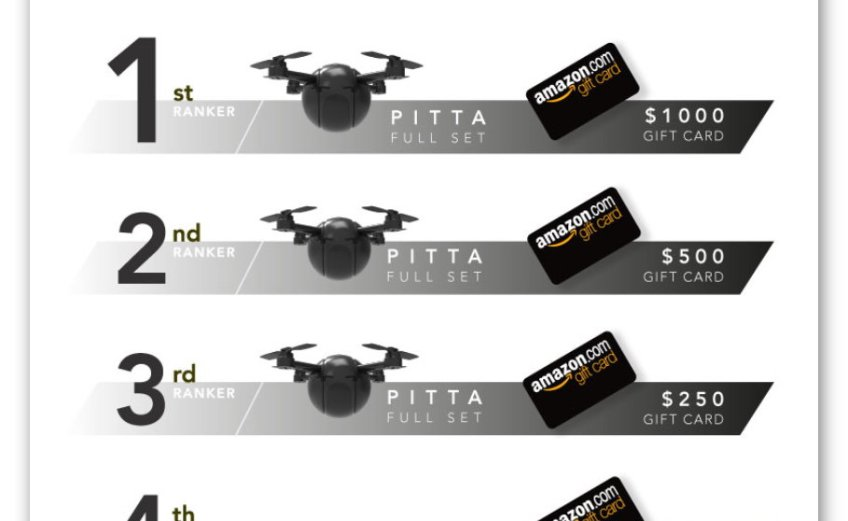 Win a $1,000 Amazon Gift Cards and a Pitta Drone