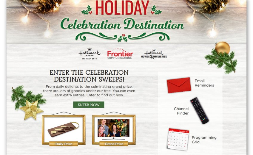 Holiday Celebration Destination Sweepstakes