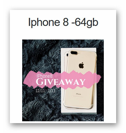 Giveaway iPhone 8 64gb