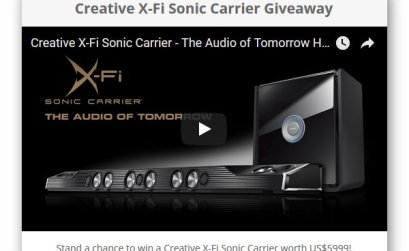 Win a Creative X-Fi Sonic Carrier worth over $6K