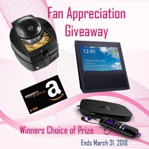 Win your Choice of Prize in the Fan Appreciation Giveaway