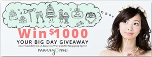 Oriental Trading Your Big Day $1,000 Monthly Giveaway