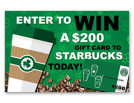Win a $200 Starbucks Gift Card - Ends March 27th
