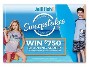 Jellifish Kids Sweet Dreams Spring Break Sweepstakes