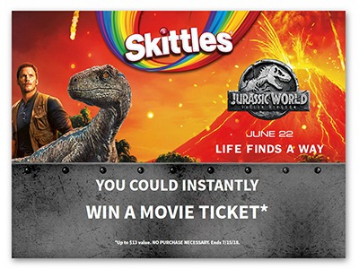 Skittles Movie Ticket Instant Win Game
