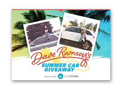 Dave Ramsey's Summer Car Giveaway (4 win a Car) - Ends May 31st