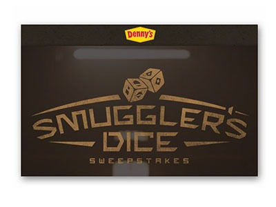 Denny's Smuggler's Dice Sweepstakes (52,274 winners) - Ends June 25th