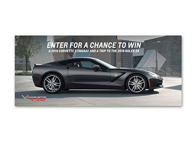 Win a 2019 Corvette Stingray and Trip to Rolex 24