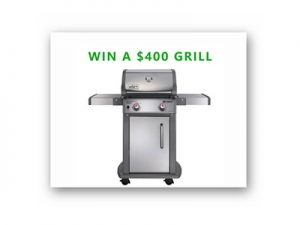 Win a Weber Grill for your Deck Giveaway