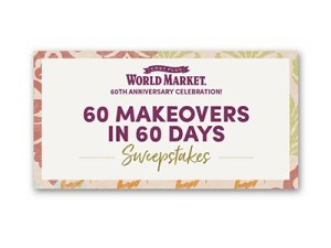World Market 60th Anniversary Sweepstakes