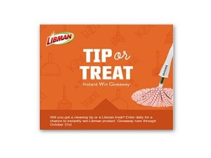 Libman Tip or Treat Instant Win Game