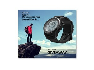 Win an ALTO Mountaineering Smart Watch
