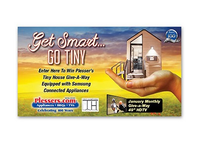 Plessers Tiny House Giveaway & Instant Win Game