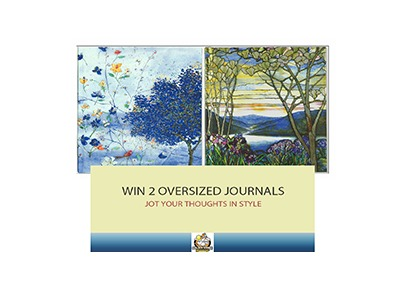Pausitive Living Blog - Oversized Journal Giveaway