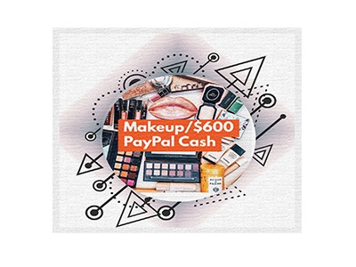 Win Choice of Makeup or $600 PayPal Cash Giveaway