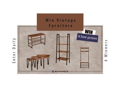 SONGMIC Vintage Furniture Giveaway