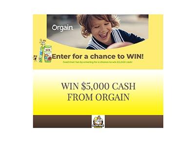 Orgain Kids $5,000 Cash Giveaway