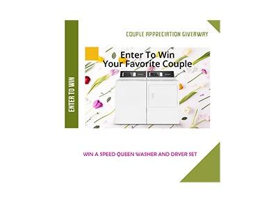 Win a Speed Queen Washer & Dryer