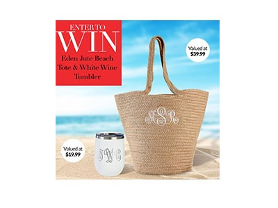 Win an Eden Jute Beach Tote and Wine Tumbler