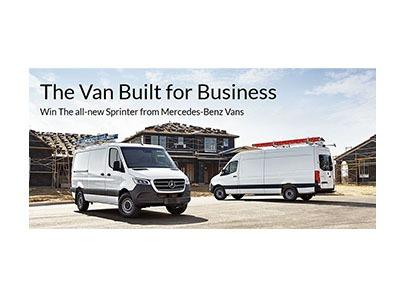 Win a Mercedes-Benz Sprinter Van