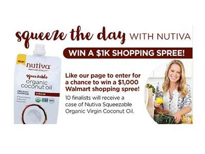 Nutiva Walmart Shopping Spree Sweepstakes