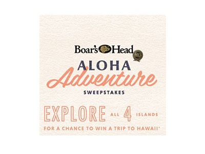 Boar's Head Aloha Adventure Sweepstakes