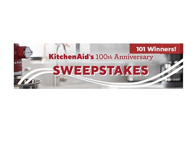 KitchenAid 100th Anniversary Sweepstakes