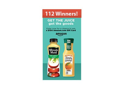 Minute Maid Amazon Gift Card Sweepstakes