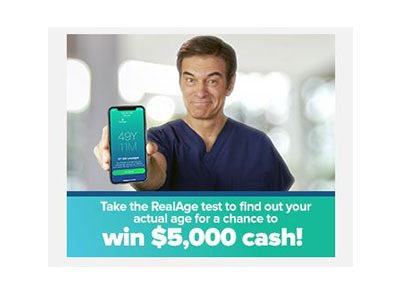 Dr. Oz Real Age $5,000 Giveaway