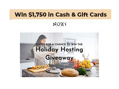 SOZY Cash & Gift Card Giveaway
