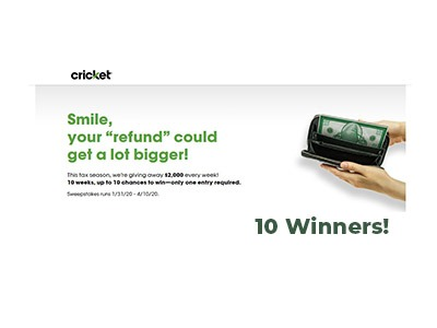 Cricket Tax Time Sweepstakes