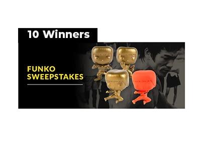Bruce Lee Funko POP Sweepstakes