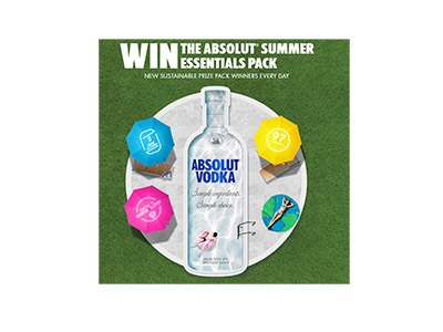 Absolut Summer Essentials Text Sweepstakes