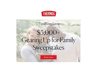 Thermos Gearing Up for Family Sweepstakes