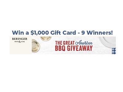 Beringer Main & Vine Great American BBQ Giveaway