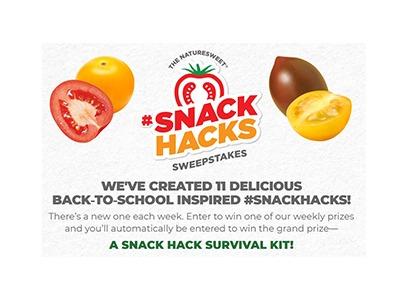 NatureSweet Snack Hack Sweepstakes