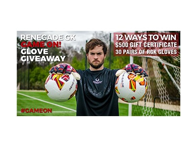 Renegade GK GAME ON! Glove Giveaway