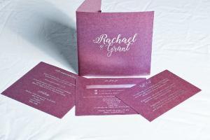 Foil Blocking Wedding invitations