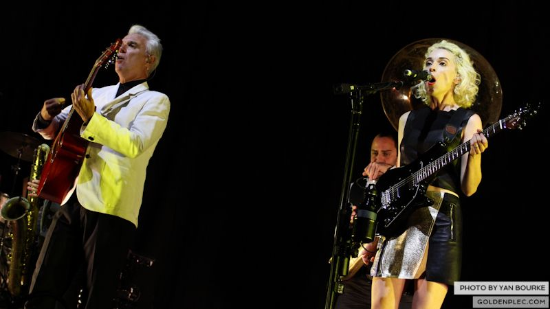 David Byrne and St Vincent at Electric Picnic by Yan Bourke on 010913_02
