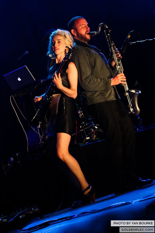 David Byrne and St Vincent at Electric Picnic by Yan Bourke on 010913_19