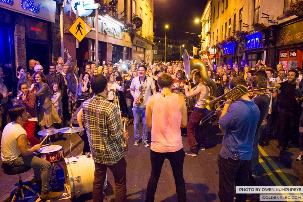 Booka Brass Band at the Roisin Dubh – Galway Arts Festival by Owen Humphreys (14 of 26)