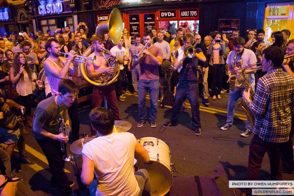 Booka Brass Band at the Roisin Dubh – Galway Arts Festival by Owen Humphreys (17 of 26)
