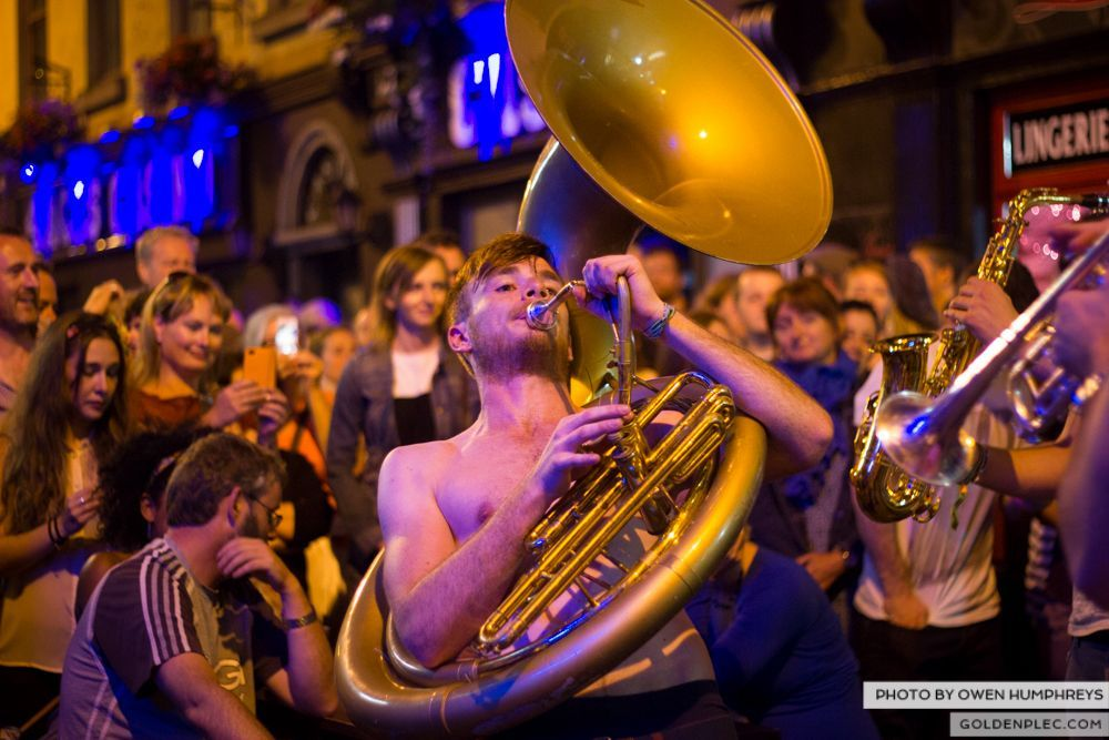 Booka Brass Band at the Roisin Dubh – Galway Arts Festival by Owen Humphreys (21 of 26)